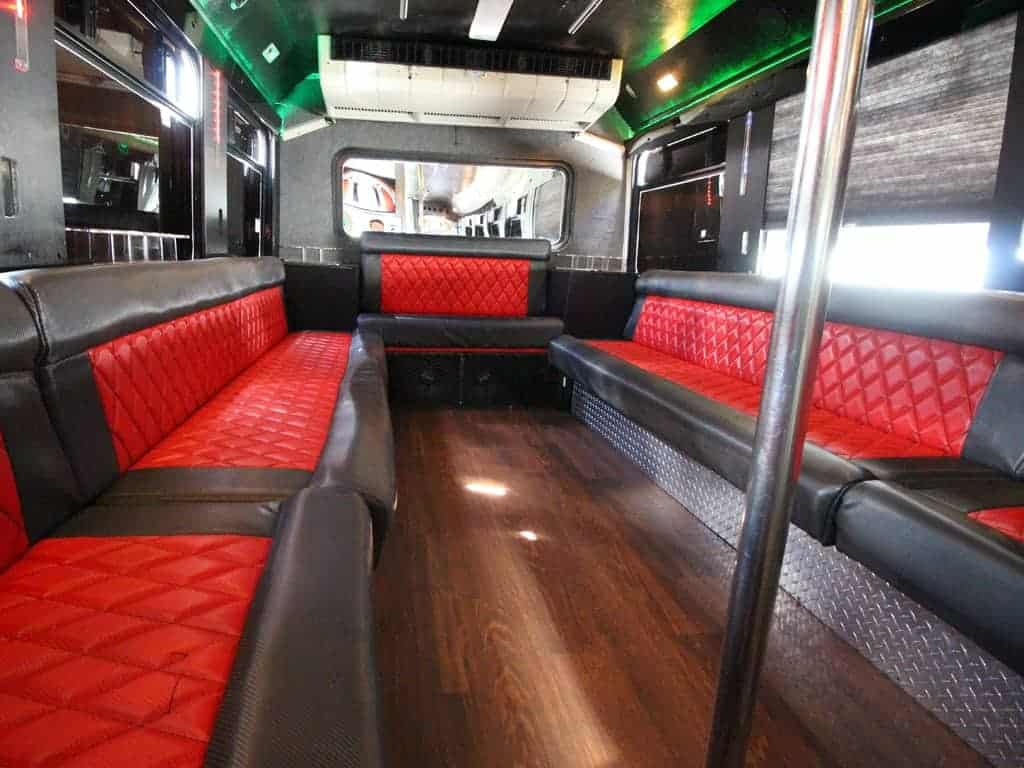 party bus limousine service tampa by l3limo – 40 guests party bus