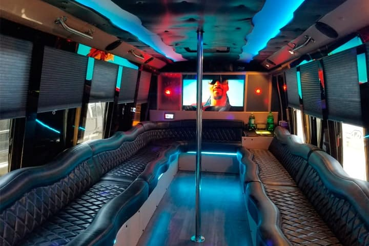 party bus limousine service tampa by l3limo – 26 guests party bus