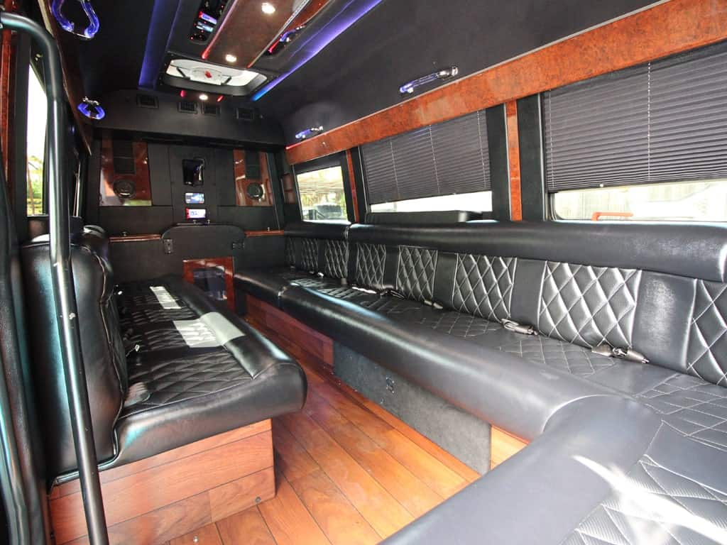 party bus limousine service tampa by l3limo – 13 guests party bus