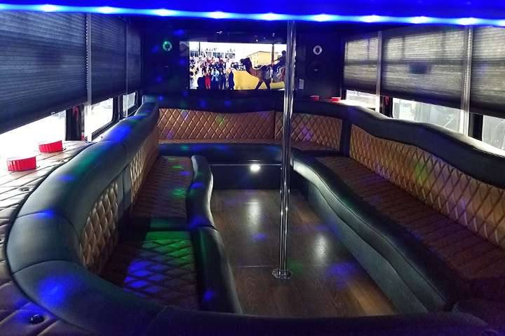 party bus limousine service tampa by l3limo – 38 guests party bus