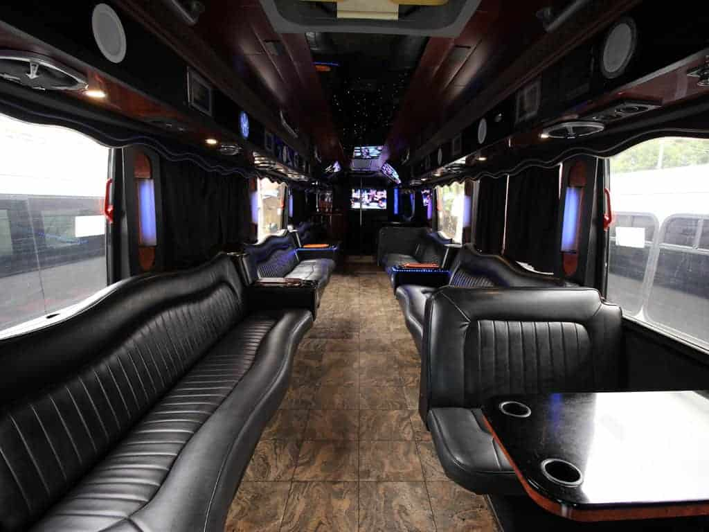 party bus limousine service tampa by l3limo – 45 guests party bus